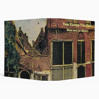 Johannes Vermeer's Street in Delft (circa 1660) 3 Ring Binder