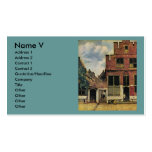 Johannes Vermeer's Street in Delft (circa 1660) Double-Sided Standard Business Cards (Pack Of 100)