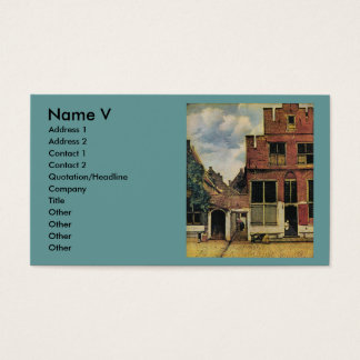 Johannes Vermeer's Street in Delft (circa 1660) Business Card
