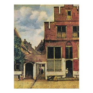 Johannes Vermeer's Street in Delft (circa 1660) Flyer