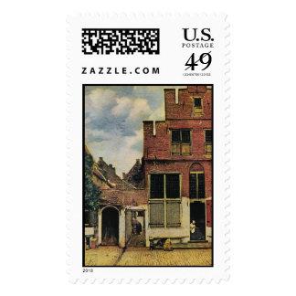 Johannes Vermeer's Street in Delft (circa 1660) Postage Stamp