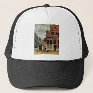 Johannes Vermeer's Street in Delft (circa 1660) Trucker Hat