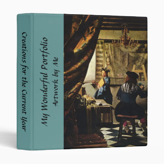 Johannes Vermeer's The Art of Painting circa 1668 3 Ring Binder