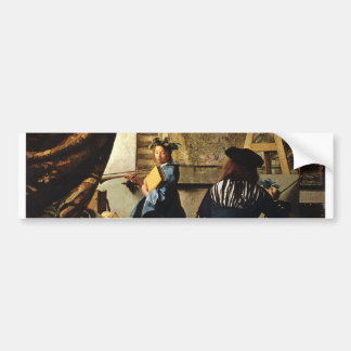 Johannes Vermeer's The Art of Painting circa 1668 Bumper Sticker