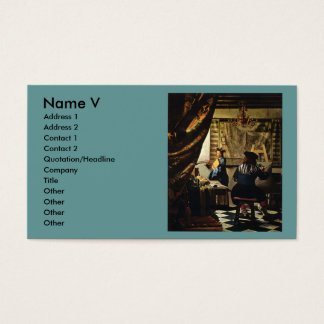 Johannes Vermeer's The Art of Painting circa 1668 Business Card