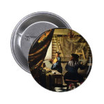 Johannes Vermeer's The Art of Painting circa 1668 Buttons