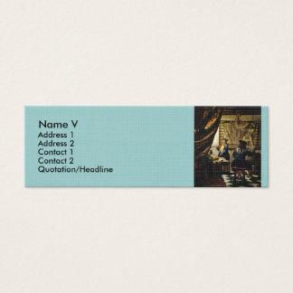 Johannes Vermeer's The Art of Painting circa 1668 Mini Business Card