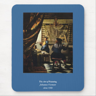 Johannes Vermeer's The Art of Painting circa 1668 Mouse Pad