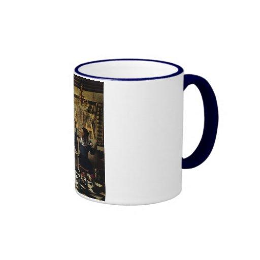 Johannes Vermeer's The Art of Painting circa 1668 Ringer Coffee Mug