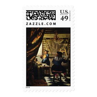 Johannes Vermeer's The Art of Painting circa 1668 Stamp