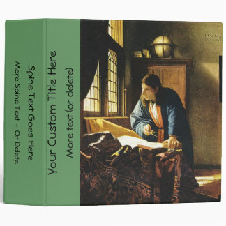 Johannes Vermeer's The Geographer (circa 1669) 3 Ring Binder