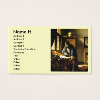 Johannes Vermeer's The Geographer (circa 1669) Business Card