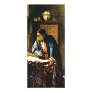 Johannes Vermeer's The Geographer (circa 1669) Rack Card Design