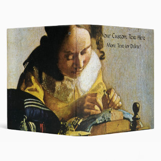 Johannes Vermeer's The Lacemaker (circa 1670) 3 Ring Binder