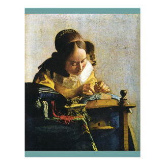 Johannes Vermeer's The Lacemaker (circa 1670) Personalized Flyer