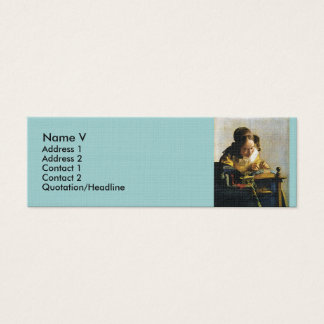 Johannes Vermeer's The Lacemaker (circa 1670) Mini Business Card