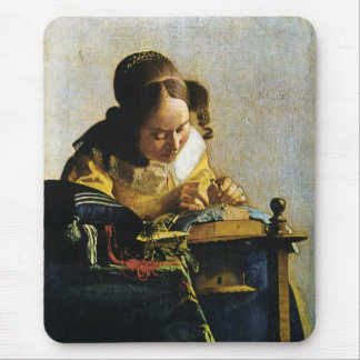 Johannes Vermeer's The Lacemaker (circa 1670) Mouse Pad