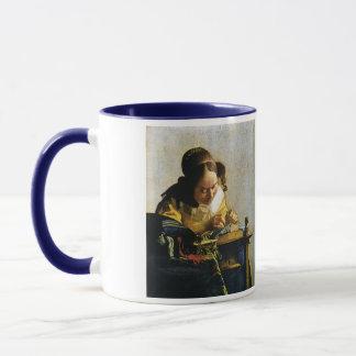 Johannes Vermeer's The Lacemaker (circa 1670) Mug