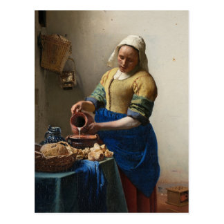 Johannes Vermeer's The Milkmaid Post Card