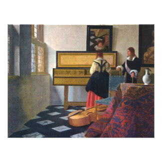 "Johannes Vermeer's The Music Lesson (circa1663) 8.5"" X 11"" Flyer"