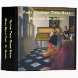 Johannes Vermeer's The Music Lesson (circa1663) Vinyl Binder
