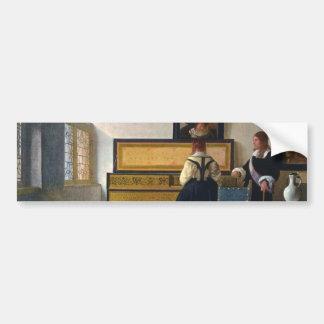Johannes Vermeer's The Music Lesson (circa1663) Bumper Sticker