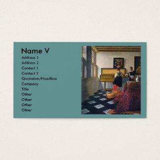 Johannes Vermeer's The Music Lesson (circa1663) Business Card