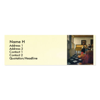 Johannes Vermeer's The Music Lesson (circa1663) Double-Sided Mini Business Cards (Pack Of 20)