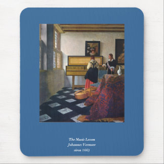 Johannes Vermeer's The Music Lesson (circa1663) Mouse Pad