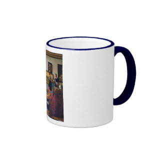 Johannes Vermeer's The Music Lesson (circa1663) Ringer Coffee Mug
