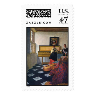 Johannes Vermeer's The Music Lesson (circa1663) Postage