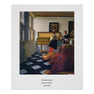 Johannes Vermeer's The Music Lesson (circa1663) Posters