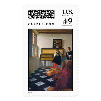Johannes Vermeer's The Music Lesson (circa1663) Stamps
