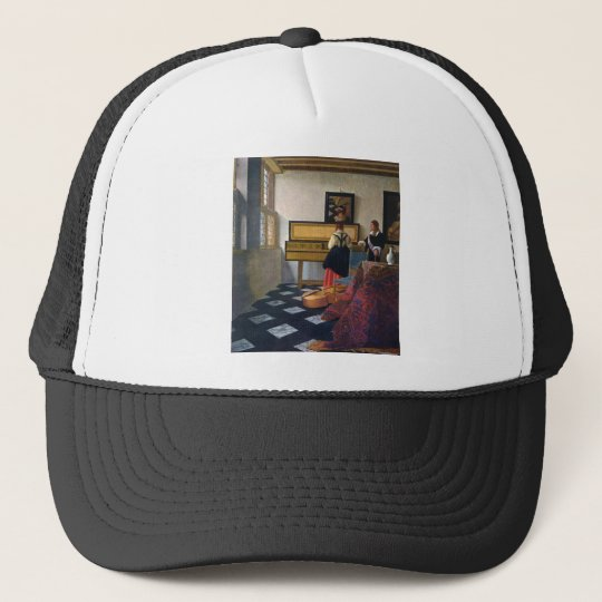 Johannes Vermeer's The Music Lesson (circa1663) Trucker Hat