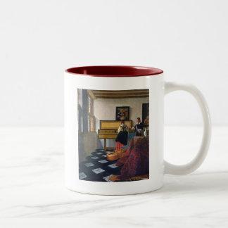 Johannes Vermeer's The Music Lesson (circa1663) Two-Tone Coffee Mug