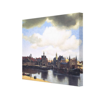 Johannes Vermeer's View of Delft (circa 1660) Stretched Canvas Prints