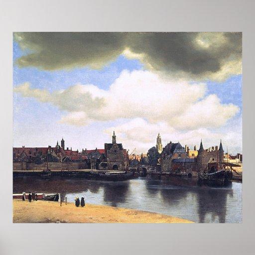 Johannes Vermeer's View of Delft (circa 1660) Poster