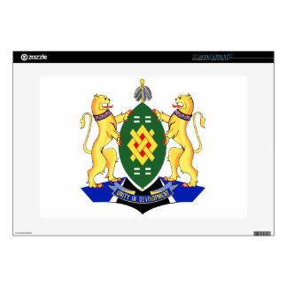 "Johannesburg Coat of Arms Decal For 15"" Laptop"