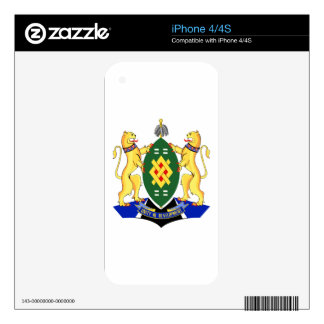 Johannesburg Coat of Arms Decals For iPhone 4S