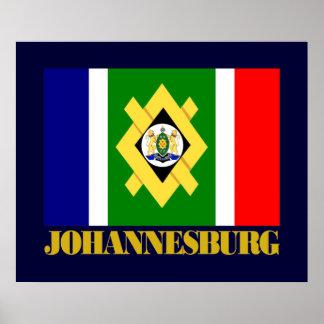 Johannesburg Flag Poster