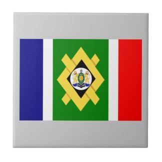 Johannesburg Flag Small Square Tile