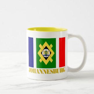 Johannesburg Flag Two-Tone Coffee Mug