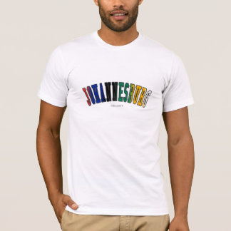 Johannesburg in South Africa national flag colors T-Shirt