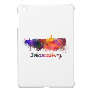 Johannesburg skyline in watercolor iPad mini case