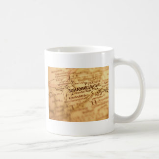 JOHANNESBURG Vintage Map Coffee Mug
