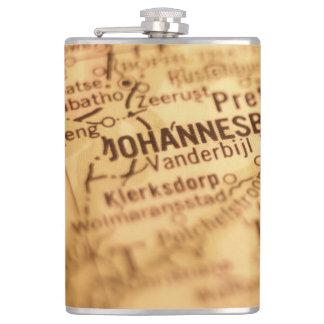 JOHANNESBURG Vintage Map Flask