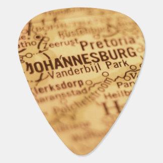 JOHANNESBURG Vintage Map Guitar Pick