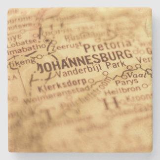 JOHANNESBURG Vintage Map Stone Coaster