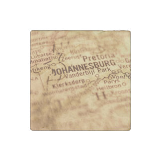 JOHANNESBURG Vintage Map Stone Magnet