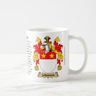 Johansen, the Origin, the Meaning and the Crest Coffee Mug